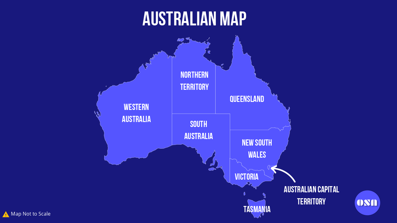 Australian Map - Overseas Students Australia